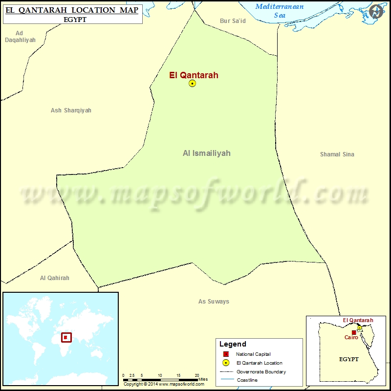 Where is ElQantarah Location of ElQantarah in Egypt Map