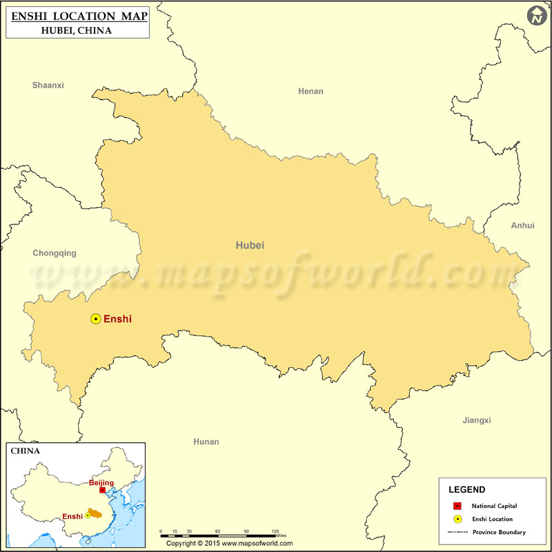 Where Is Enshi Located Location Of Enshi In China Map - Enshi map