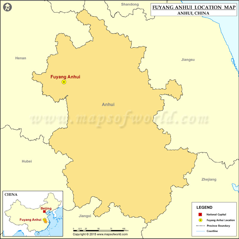 Where Is Fuyang Anhui Located Location Of Fuyang Anhui In China Map
