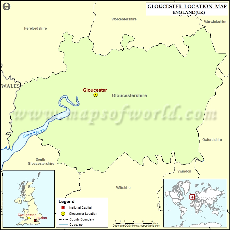 Map Of England Gloucestershire.Where Is Gloucester Location Of Gloucester In England Map