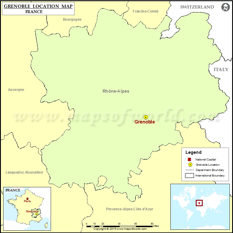 Where is Grenoble Located in France