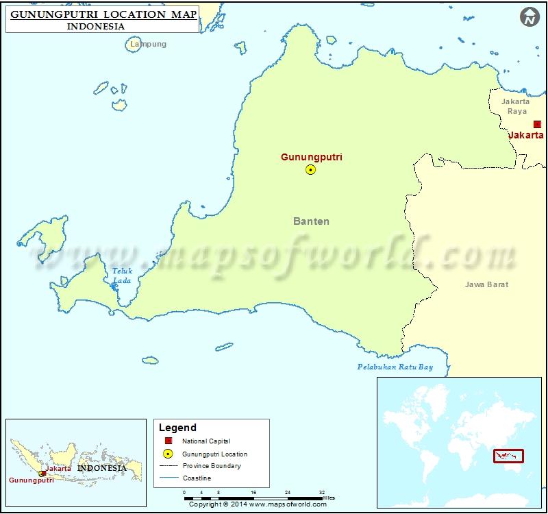 Where is Gunungputri