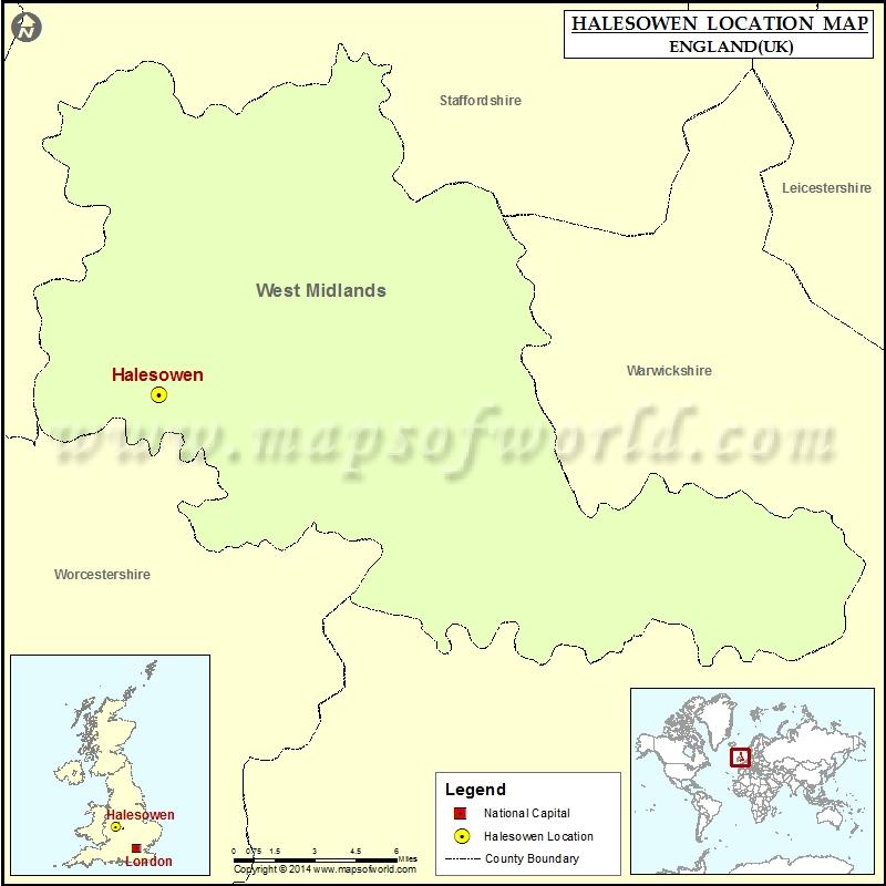 Where is Halesowen Location of Halesowen in England Map