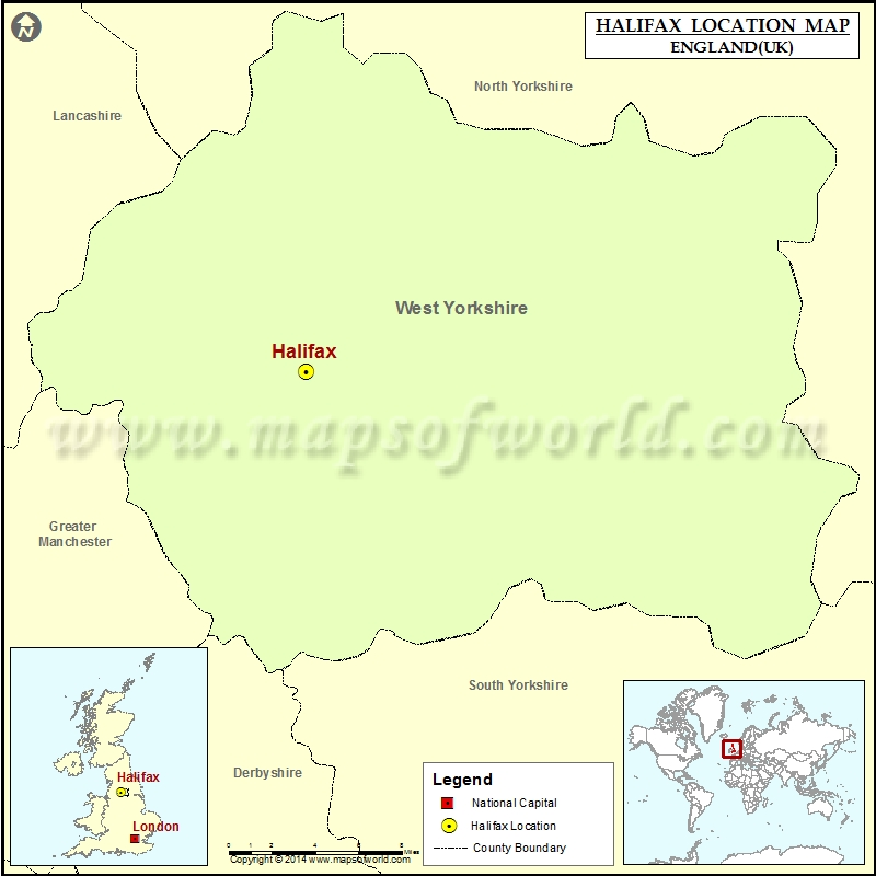 Map Of England Halifax.Where Is Halifax Location Of Halifax In England Map