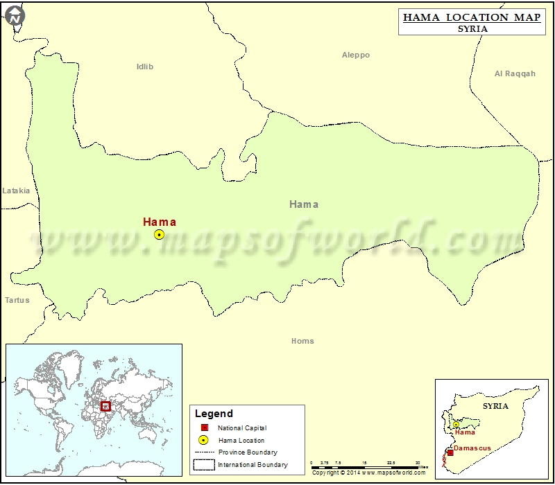 Where is Hama | Location of Hama in Syria Map