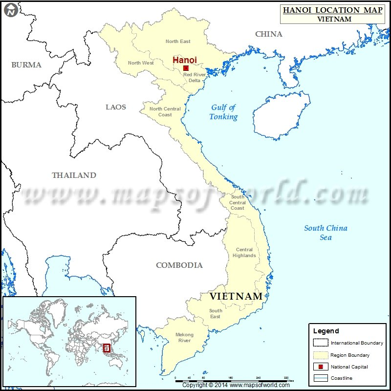 Where Is Hanoi Location Of In Vietnam Map: Vietnam Map Location At Slyspyder.com
