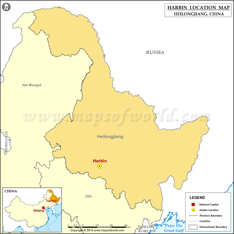 Where is Harbin Located Location of Harbin in China Map