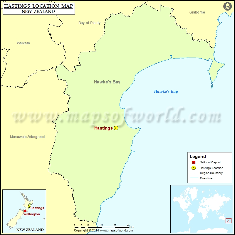 Hastings New Zealand Map.Where Is Hastings Location Of Hastings In New Zealand Map
