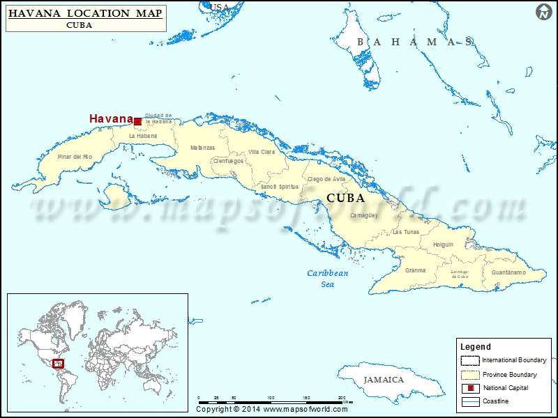 Where is Havana | Location of Havana in Cuba Map