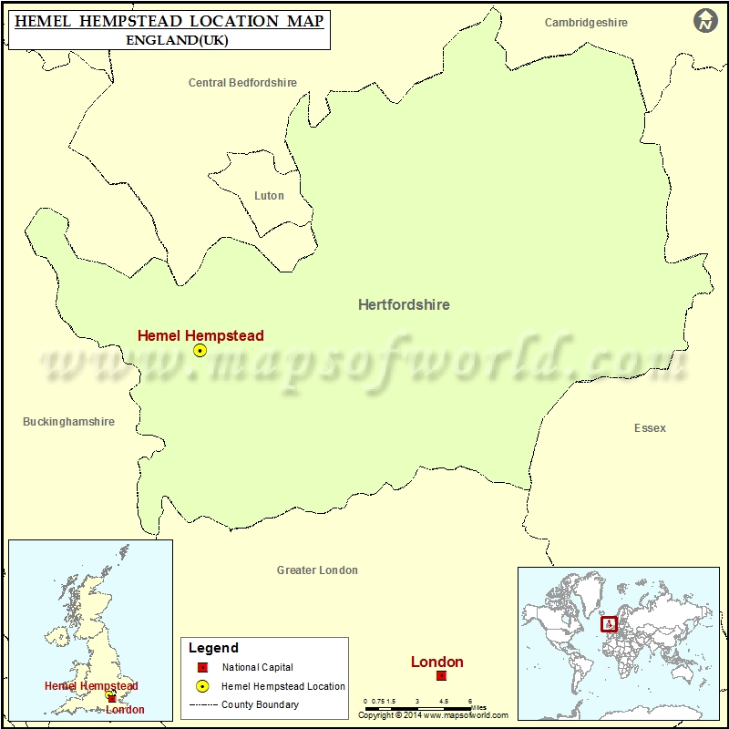 Where is Hemel Hempstead Location of Hemel Hempstead in England Map
