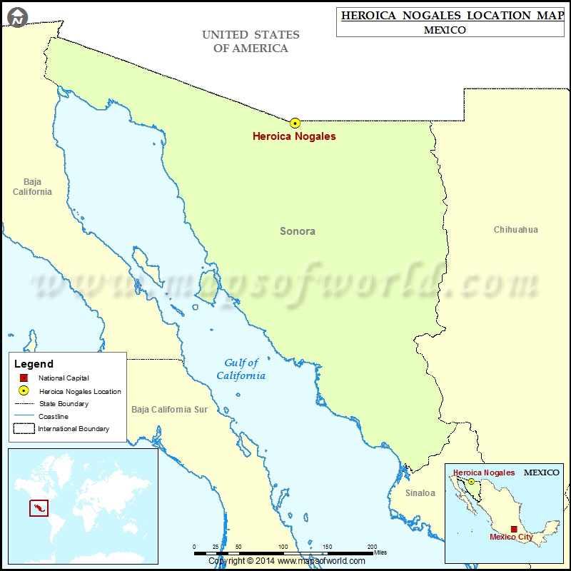 Where is Heroica Nogales