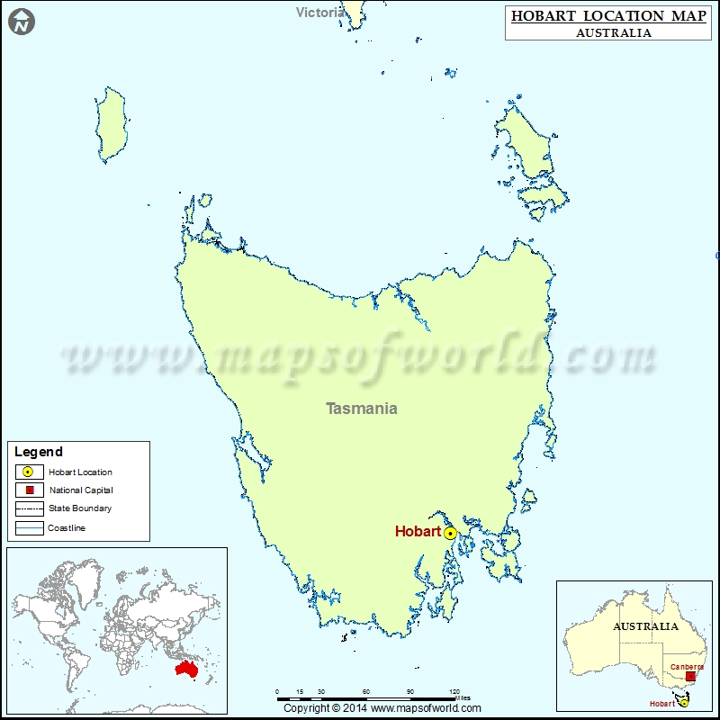 Map Of Australia And Tasmania.Where Is Hobart Location Of Hobart In Australia Map