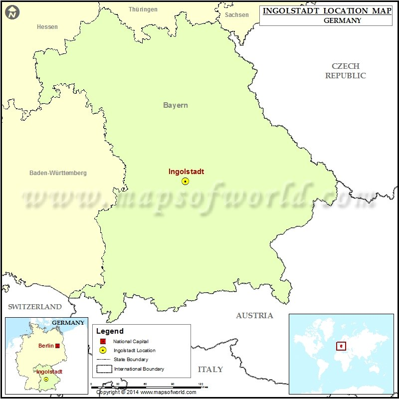 Where is Ingolstadt Location of Ingolstadt in Germany Map