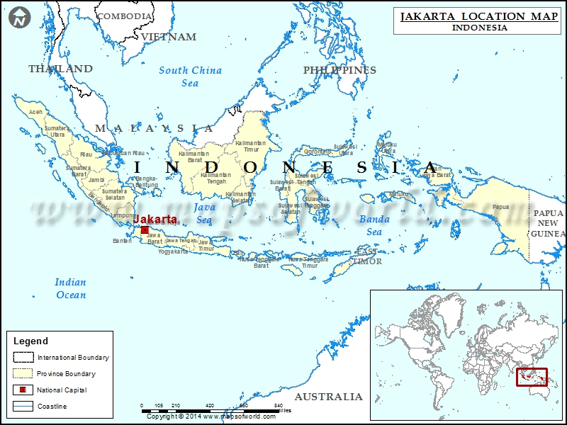 Where is Jakarta | Location of Jakarta in Indonesia Map ...