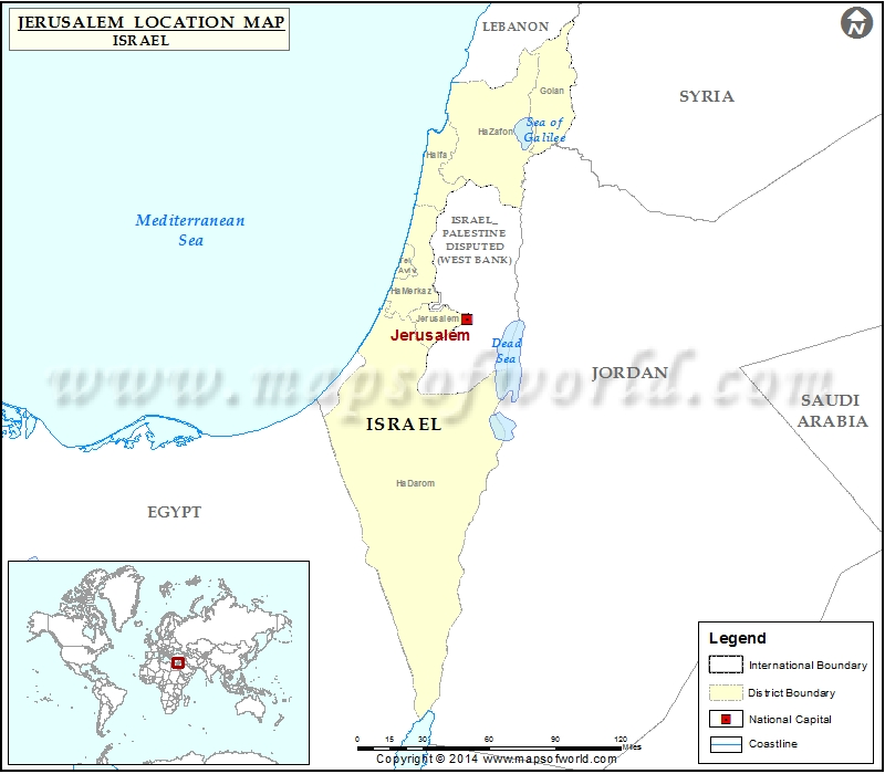 Where Is Jerusalem Location Of Jerusalem In Israel Map - Jerusalem on world map