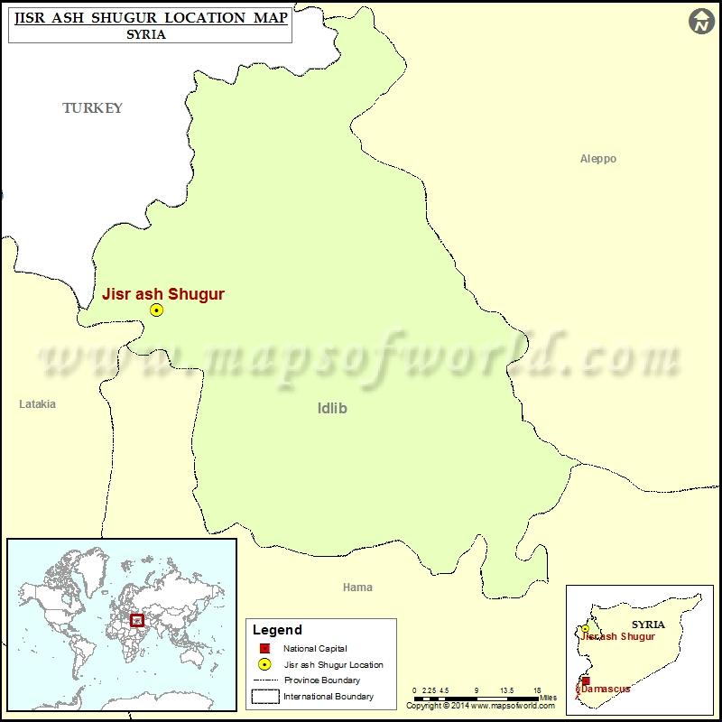 Where is Jisr ash-Shugur