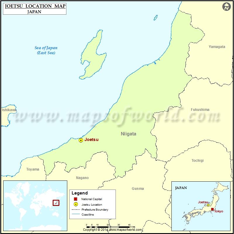 Where Is Joetsu Location Of Joetsu In Japan Map - Joetsu map