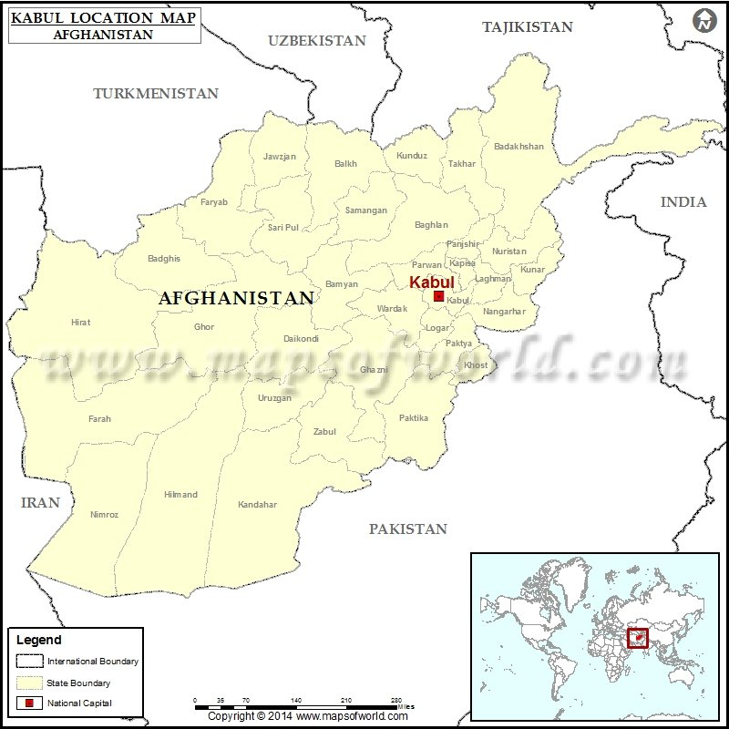 Where is Kabul | Location of Kabul in Afghanistan Map