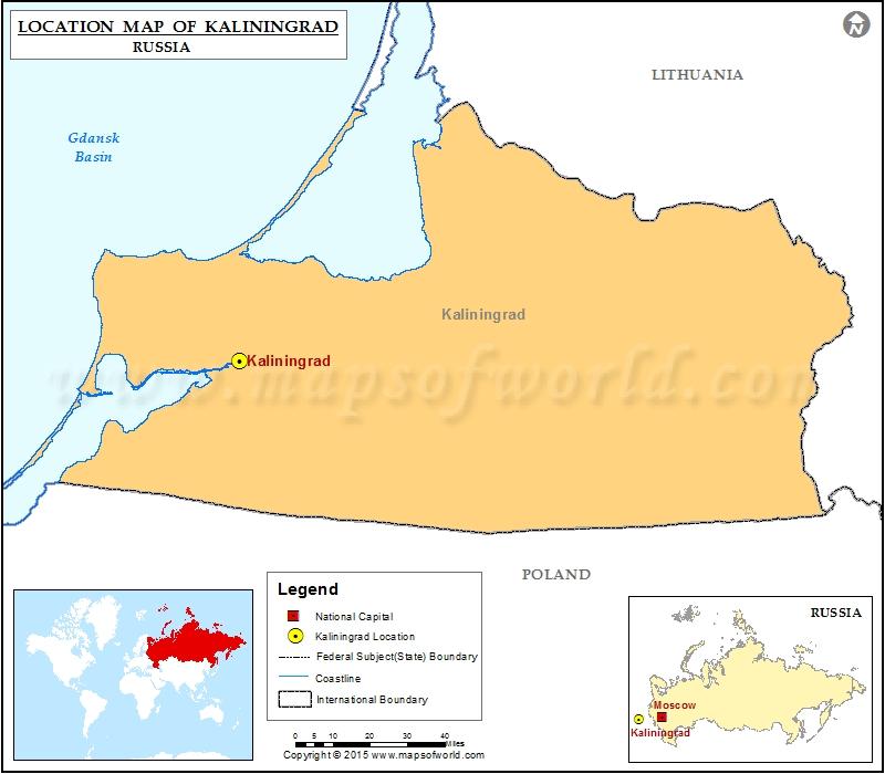 Where Is Kaliningrad Location Of Kaliningrad In Russia Map