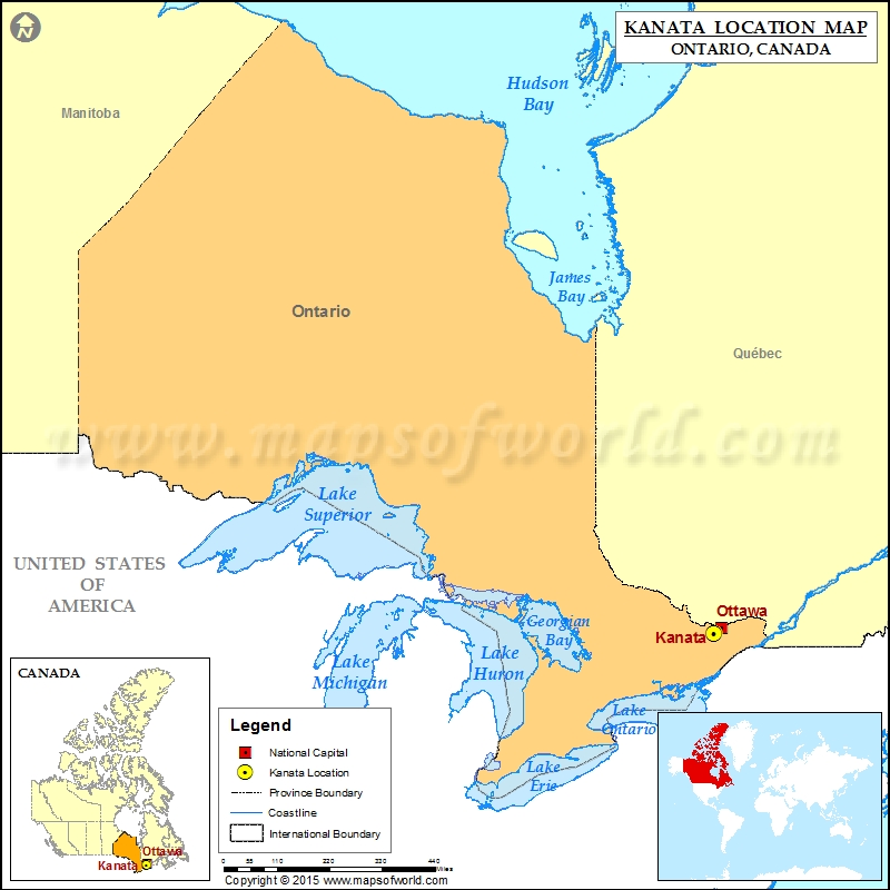 Where is Kanata Located in Canada Map