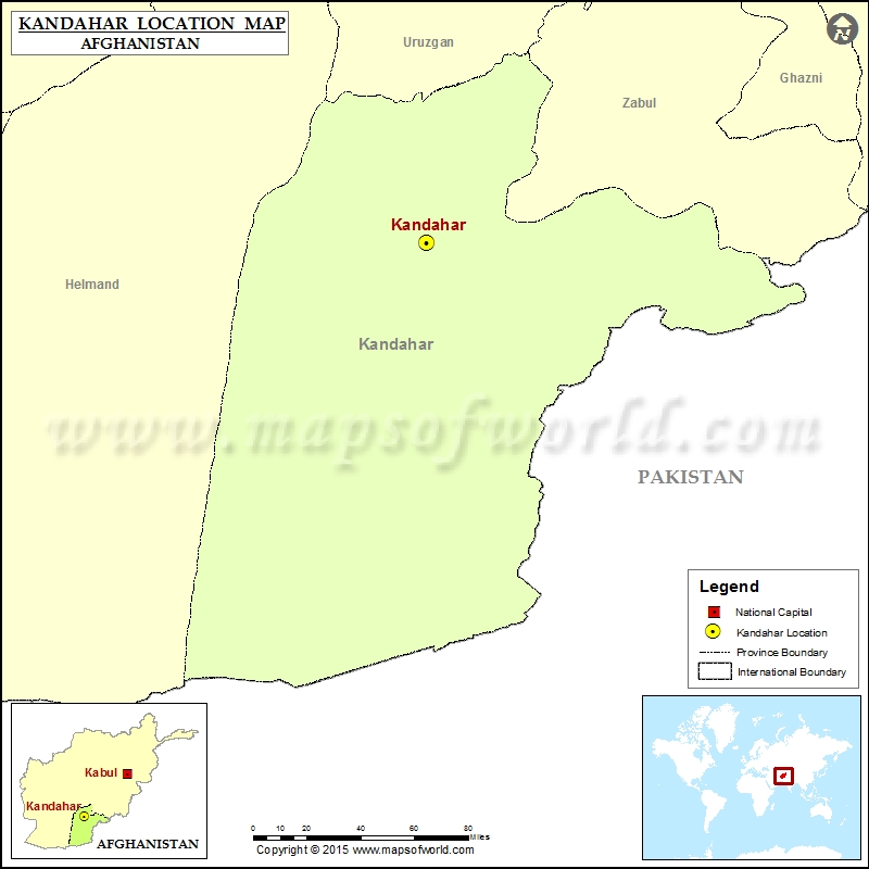 Where is Kandahar Located in Afghanistan