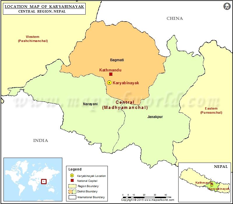 Location of Karyabinayak in Nepal Map