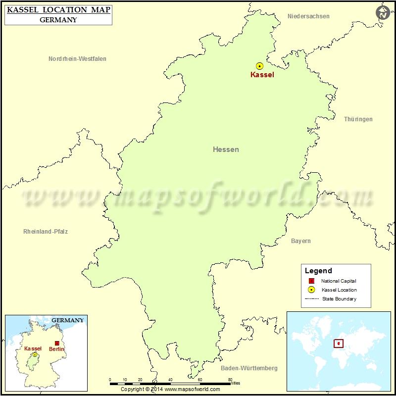 Where is Kassel Location of Kassel in Germany Map