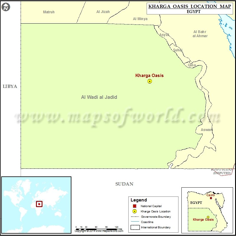 Where is Kharga Oasis
