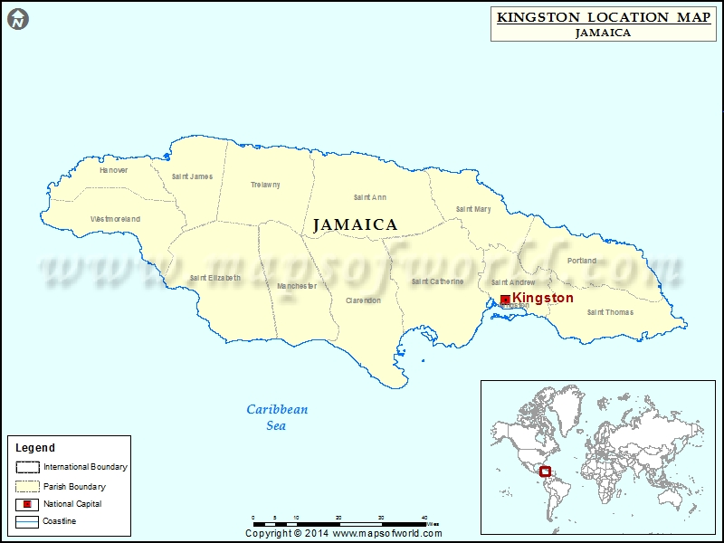 Where is Kingston Location of Kingston in Jamaica Map