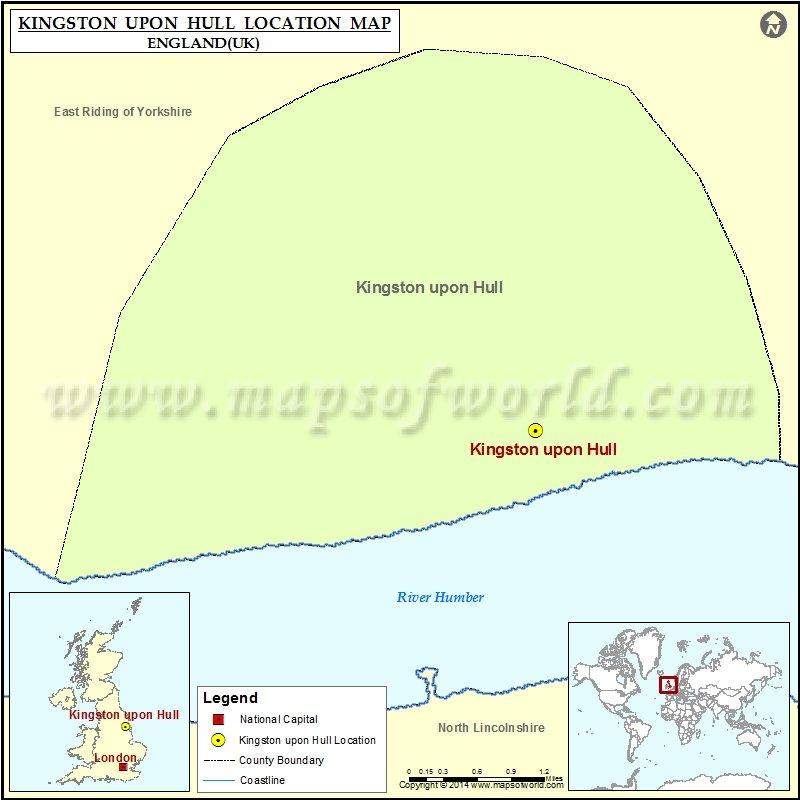 Where is Kingston upon Hull Location of Kingston upon Hull in