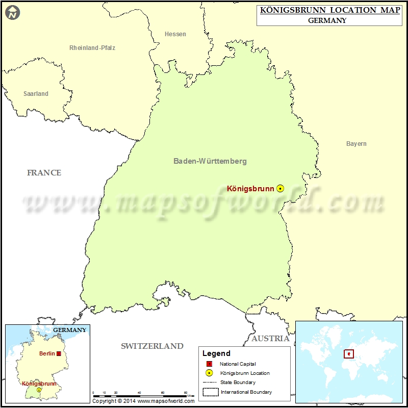 Where is Konigsbrunn