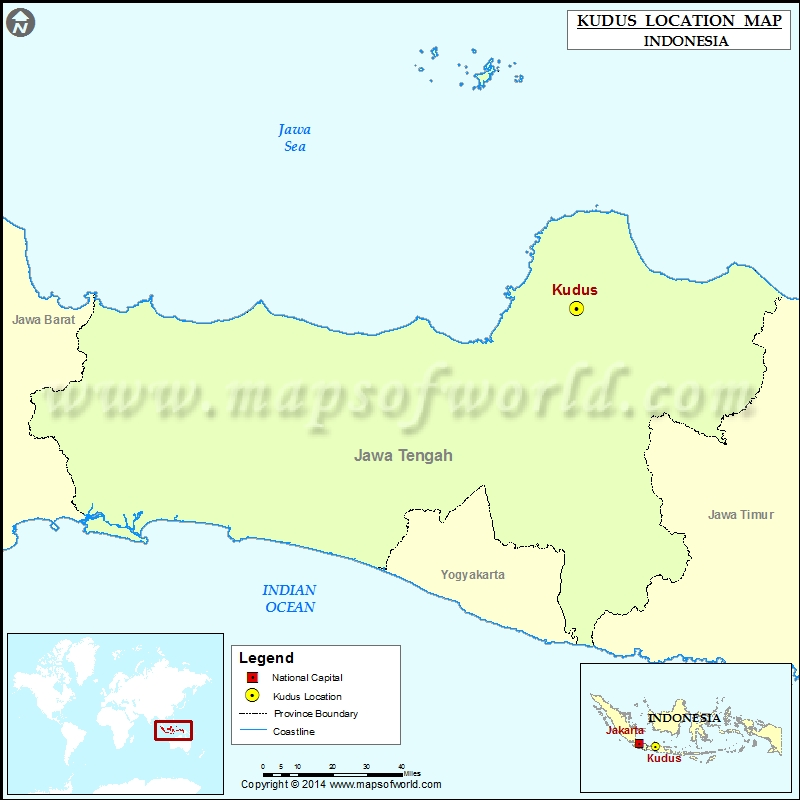 Where is Kudus Location of Kudus in Indonesia Map