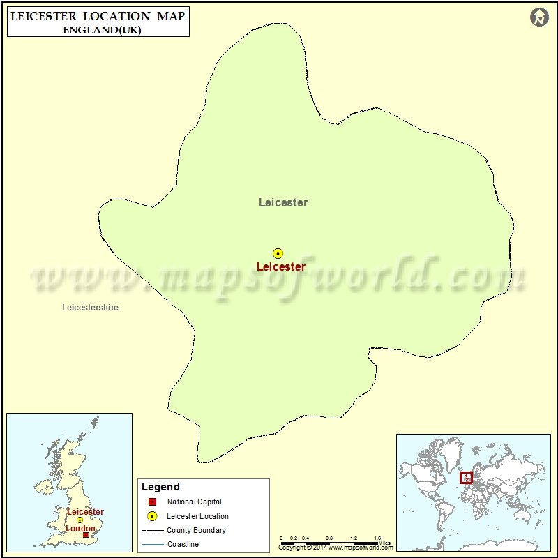 Map Of England Leicester.Where Is Leicester Location Of Leicester In England Map