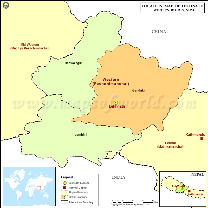 Where is Lekhnath | Location of Lekhnath in Nepal Map