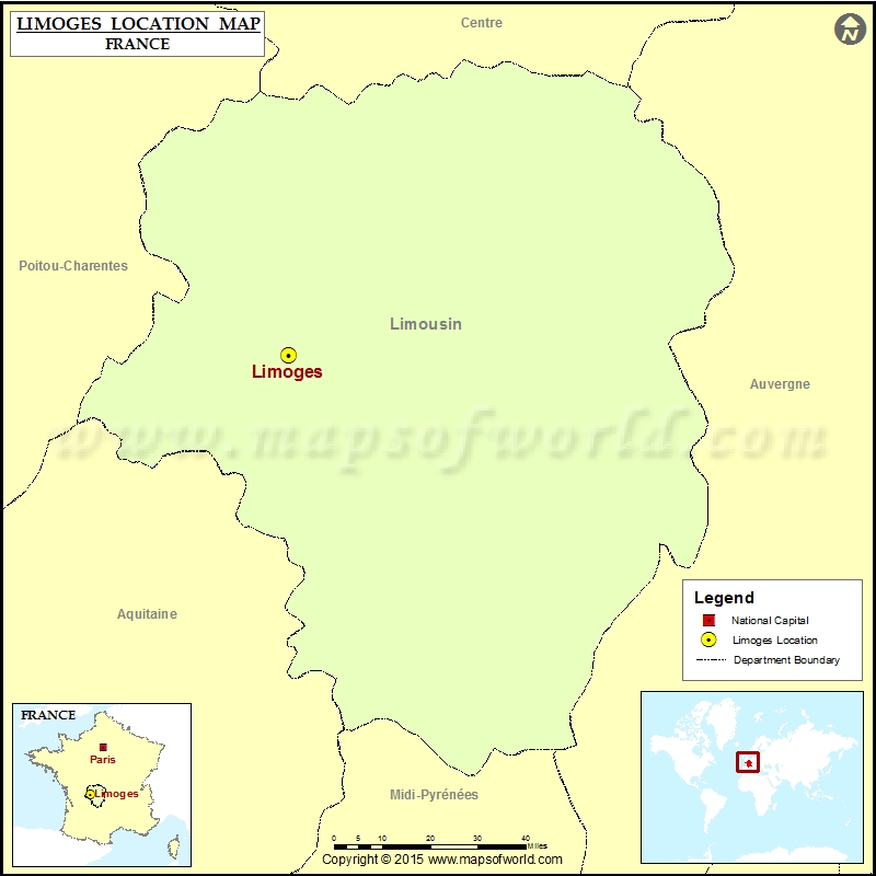 Where Is Limoges Located In France - Limoges france map