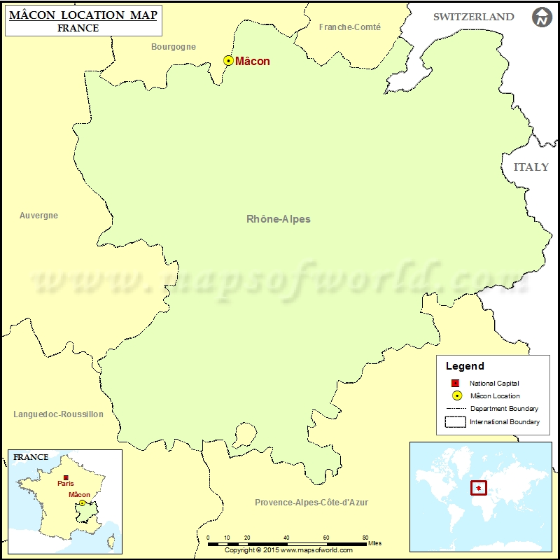 Macon France Map.Where Is Macon Located In France
