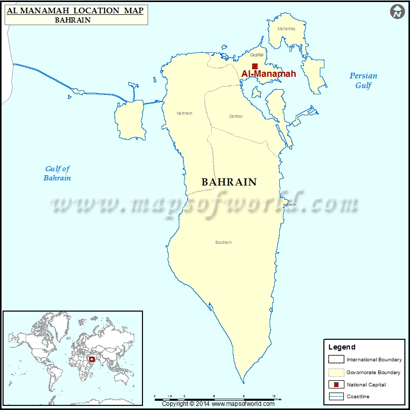 Where is manama location of manama in bahrain map description map showing location of manama in bahrain gumiabroncs