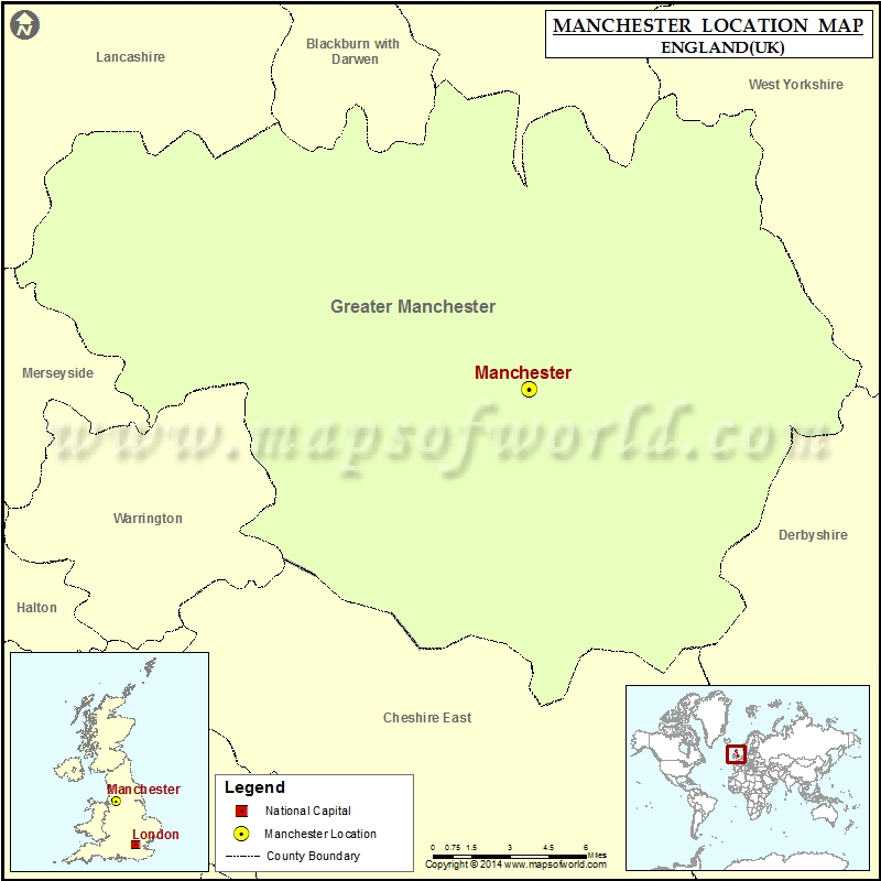 Map Of England Manchester.Where Is Manchester Location Of Manchester In England Map
