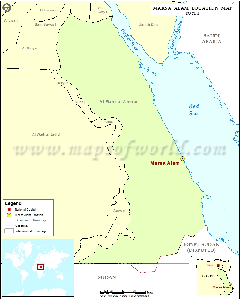 Where Is Marsa Alam Location Of Marsa Alam In Egypt Map - Map of egypt marsa alam