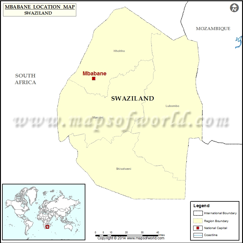 Where is Mbabane | Location of Mbabane in Swaziland Map