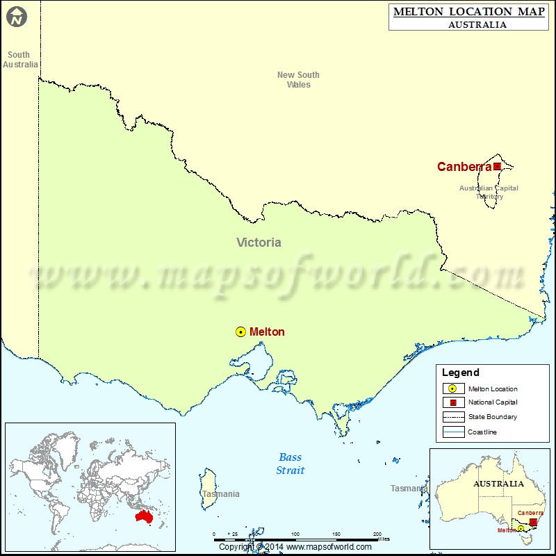 Where is Melton Location of Melton in Australia Map