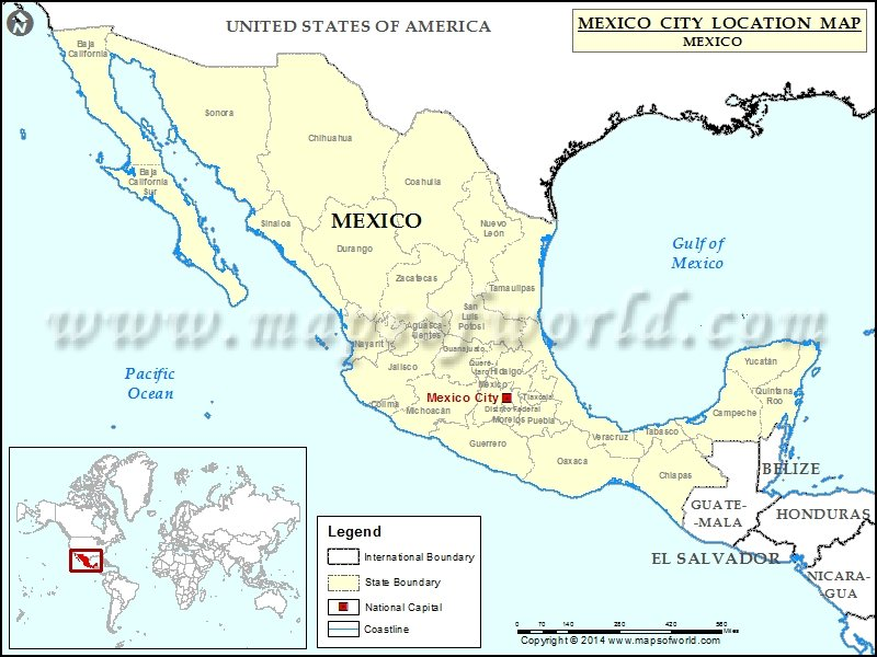 Where is Mexico City Location of Mexico City in Mexico Map