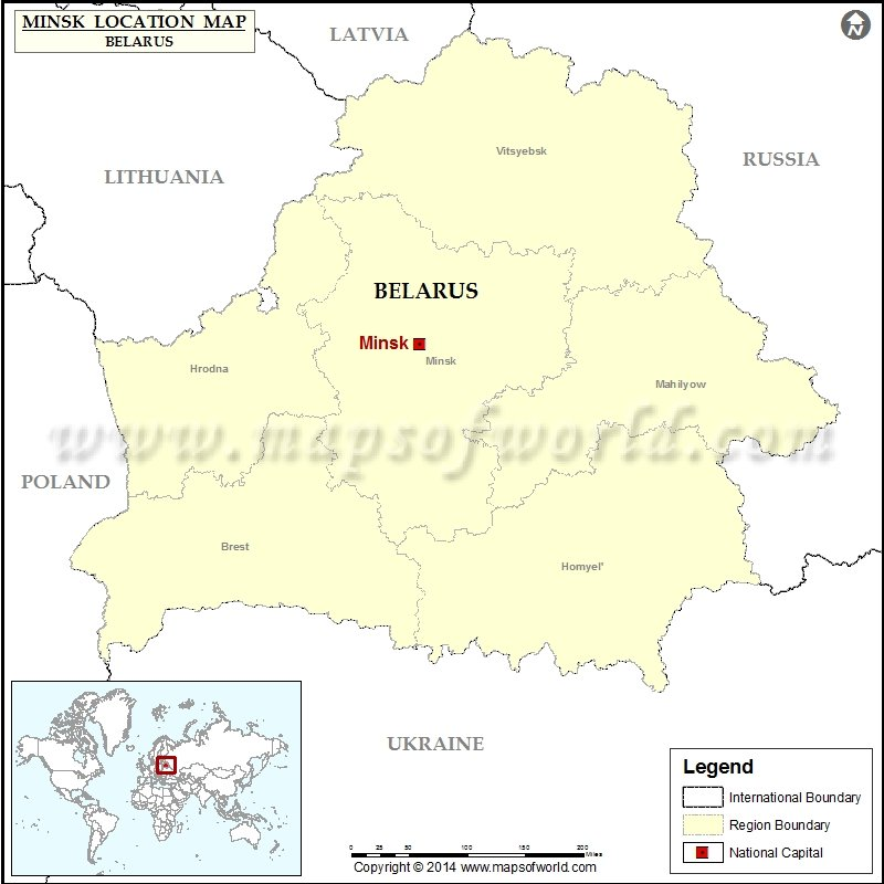 Where is minsk location of minsk in belarus map description map showing location of minsk in belarus sciox Images