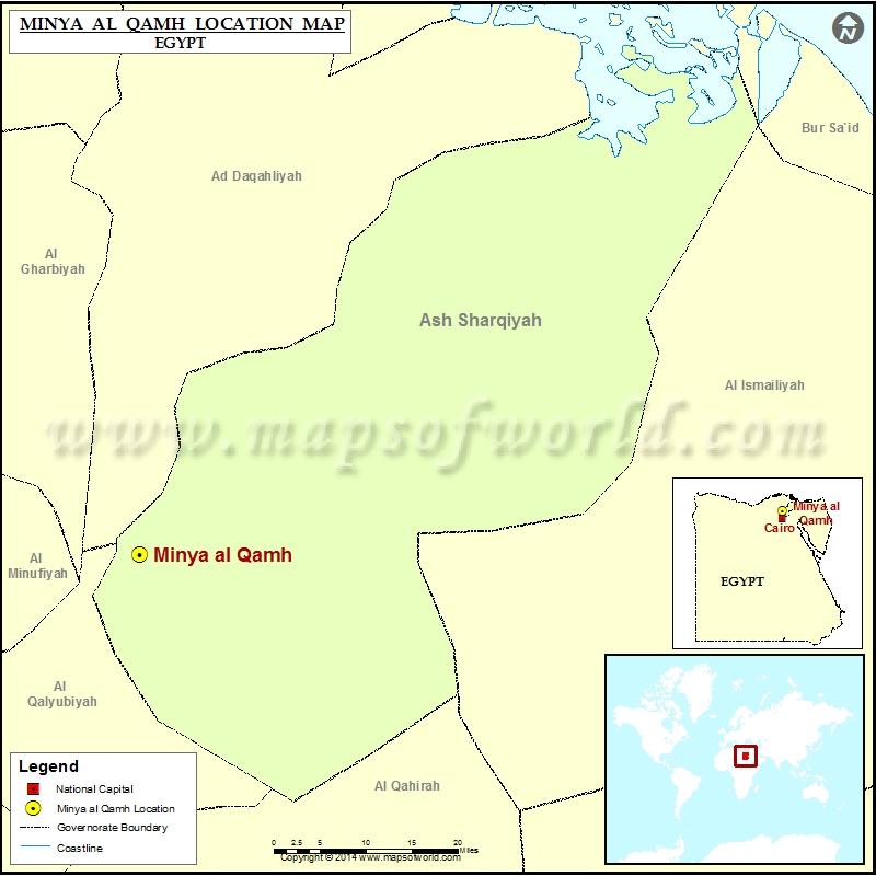 Where is Minya al Qamh