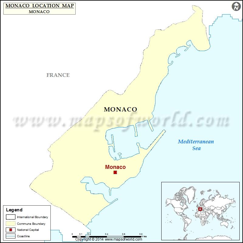 Where is Monaco Location of Monaco in Monaco Map