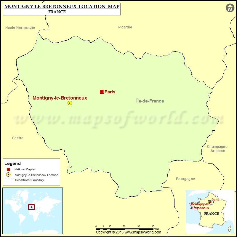Where is Montigny-le-Bretonneux