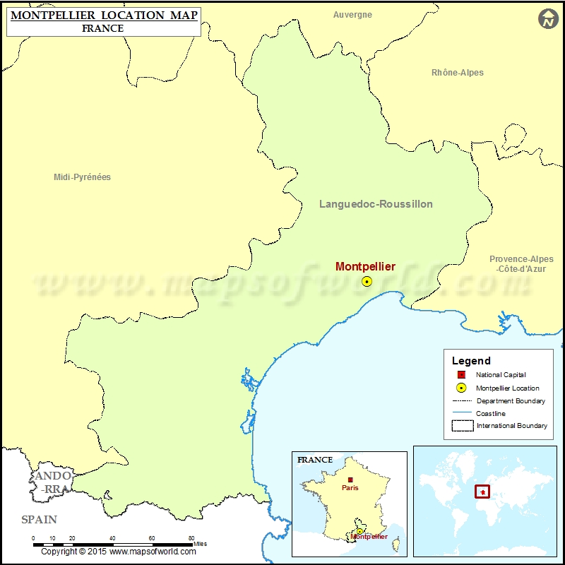 Where is Montpellier Located in France