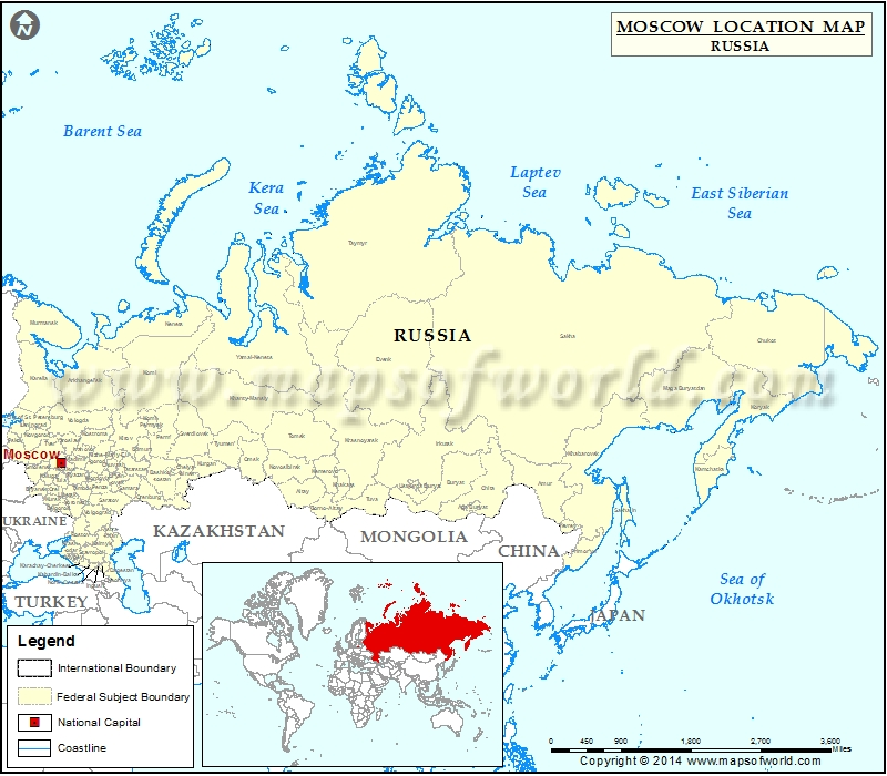 Where is Moscow | Location of Moscow in Russia Map