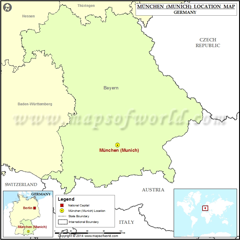 Where is Munich Location of Munich in Germany Map