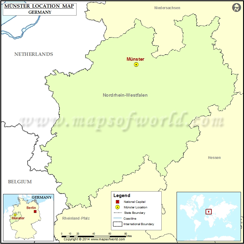 Where Is Munster Location Of Munster In Germany Map - Germany map munster